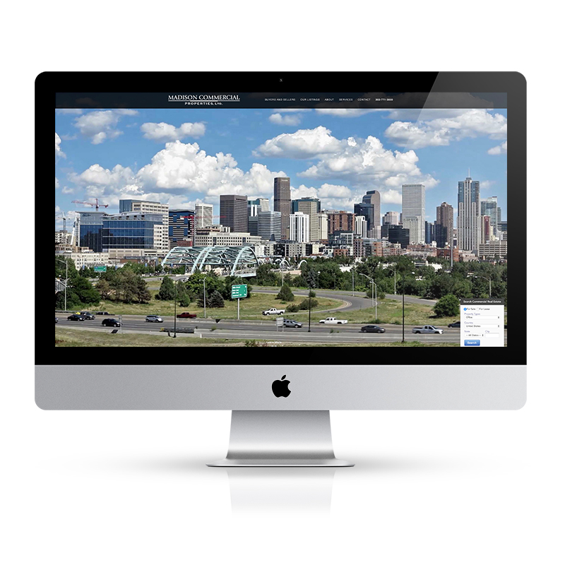 Madison Commercial Realestate Site screenshot